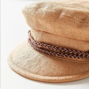 Tan Brixton Kayla Straw Cap Size (S) 7 (56cm) NWT